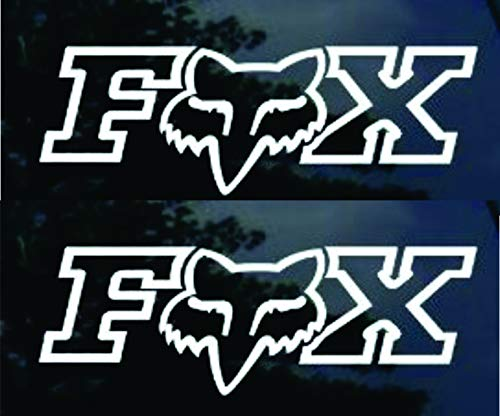 Fox Racing Decal X 2 Side Window Decal Sticker Wall Art ()