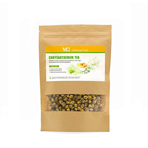 Chrysanthemum Tea, Natural Dried Flower Tea, Caffeine Free Yellow Chrysanthemum Buds Tea, 2 oz (60 g)