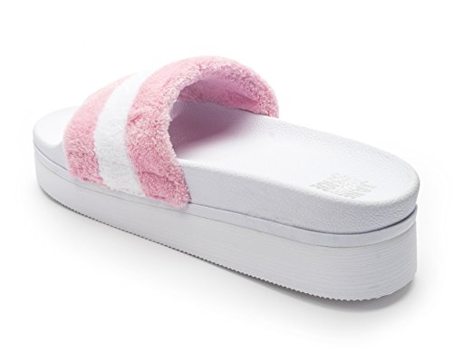 Jane and the Shoe Women's Jemma Platform Slide Sandal White/Light Pink free shipping best seller marketable cheap online best sale sale online clearance finishline A5yXZmPs3