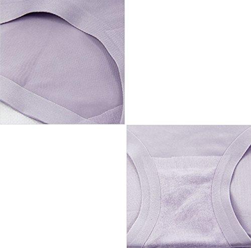 POKWAI De Las Mujeres 3 Paquetes Comfort Tamaño Del Cordón Atractivo Bragas A10