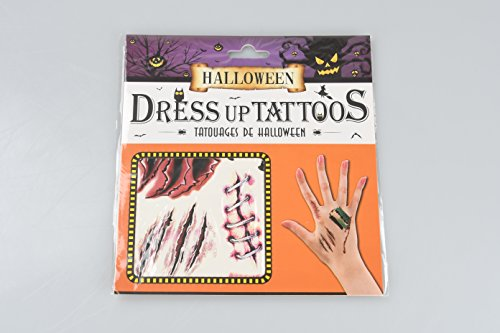 Halloween Props Costume Makeup Realistic Scar Stickers Hand Bone Spider Scratches Horror Wound Makeup Halloween Temporary Tattoo Stickers (Diy Halloween Zombie Makeup)