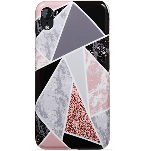 VIVIBIN iPhone XR Case,Geometry Multi Marblefor Girls Women Clear Bumper Soft Silicone Rubber Cute Glossy TPU Cover Slim Fit Best Protective Thin Phone Case for iPhone XR [6.1] 155