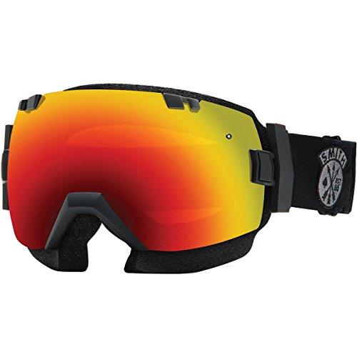 Smith Optics SNMB IOX Winter Sport Snowmobile Goggles Eyewear - Black Sabotage/Red Sol-X Mirror / Medium/Large by Smith Optics
