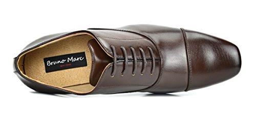 Bruno Marc New York Bruno Marc Mens In Pelle Foderata Snipe Toe Dress Oxford Scarpe 6-marrone Scuro