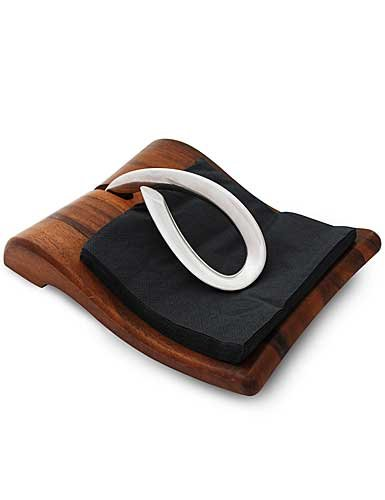 Nambe Gourmet Breeze Metal and Wood Napkin Holder by Nambe Mills, Inc. by Nambe Mills, Inc.
