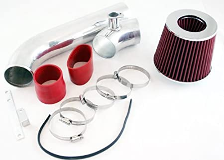 Filter For 92-98 BMW E36 323//325//328 2.5L 2.8L I6 Velocity Concepts 3 Red Cold Air Intake Kit