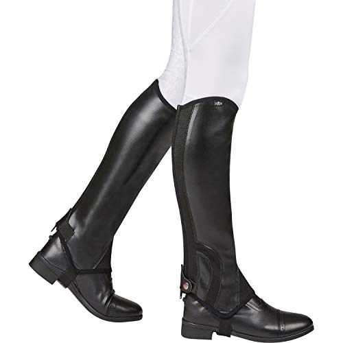 Saxon Childs Syntovia Half Chaps Medium Black