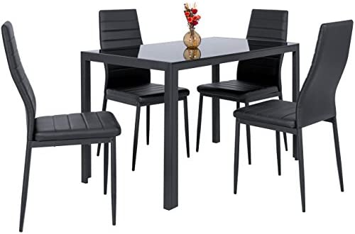 home, kitchen, furniture, kitchen, dining room furniture,  table, chair sets 7 picture Best Choice Products 5-Piece Kitchen Dining Table in USA