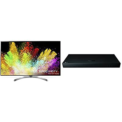 LG Electronics 65SJ8500 65-Inch 4K Ultra HD Smart LED TV and UP970 Blu-ray Player (2017 Model)