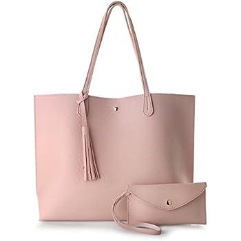Amazon.com: Dreubea - Bolso de mano de piel suave con borlas ...