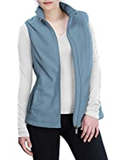 Outdoor Ventures Women's Polar Fleece Zip Vest Outerwear with Pockets,Warm Sleeveless Coat Vest for Fall & Winter