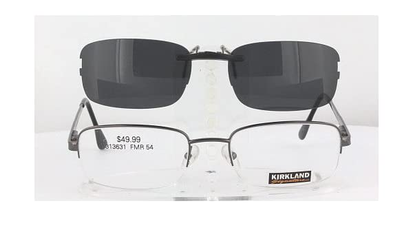 57325d2ee1fc Amazon.com  KIRKLAND-SIGNATURE NICOLAS-313631-54X20 POLARIZED CLIP-ON  SUNGLASSES (Frame NOT Included)  Health   Personal Care