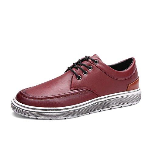 hydne-mens-fashionable-simple-lace-up-comfortable-flat-antiskid-leather-shoes43-m-eu-95-dm-uswinered