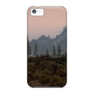 Hot Fashion Inu1079aajd Design Case Cover For Iphone 5c Protective Case (skyrim Sunset)