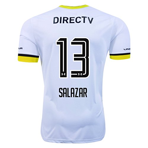 13 White Replica Football Jersey - Colo-Colo #13 Salazar 2016 Home Soccer Adult Football Jersey