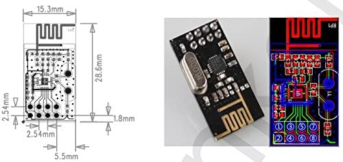 Improved SI24R1 2.4G Wireless Transceiver Module NRF24L01