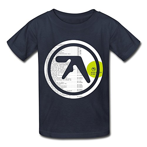 ZIYUAN Kid's Geek Aphex Twin Syro T-shirts M Navy ()
