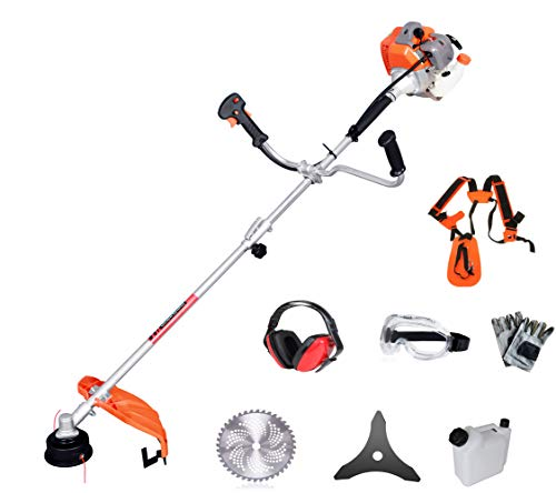 PROYAMA Extreme Duty 2-Cycle Dual Line Trimmer and Brush Cutter, 42.7cc (Best Brush Cutter Trimmer)