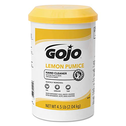 - GOJO Crème-Style Hand Cleaner with Pumice, Lemon Scent, 4.5 Pounds Hand Cleaner Canister Refill for GOJO Crème-Style Dispenser (Case of 6) - 0915-06