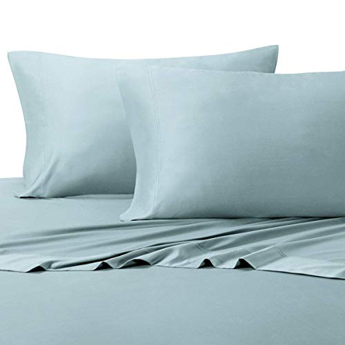 ft Bamboo Cotton Sheet Set, 100% Bamboo-Cotton Bed Sheets, Full Size, Blue ()