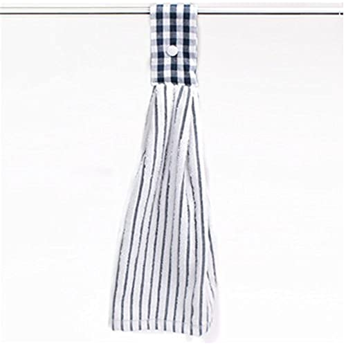 hanging towel. SNW 2 Pcs Kitchen Cotton Classical Striped Towel / Absorbent /Hanging /Hand Towel,Blue Stripes Hanging