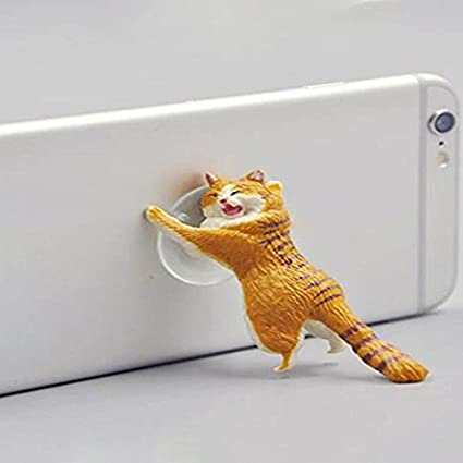 Amazon.com: Auntwhale Cat Sucker Phone Stand Twisted Egg ...