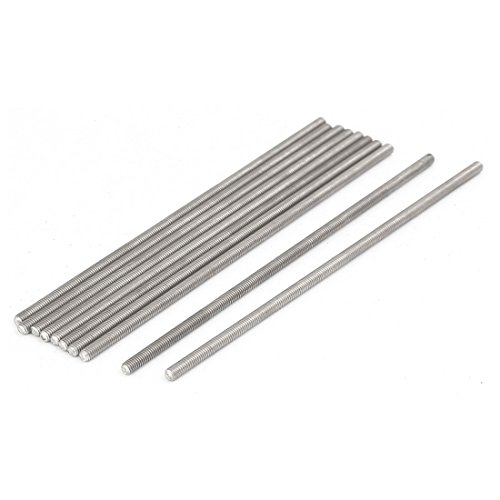 uxcell M3 x 100mm 0.5mm Pitch 304 Stainless Steel Fully Threaded Rods Hardware 10 Pcs