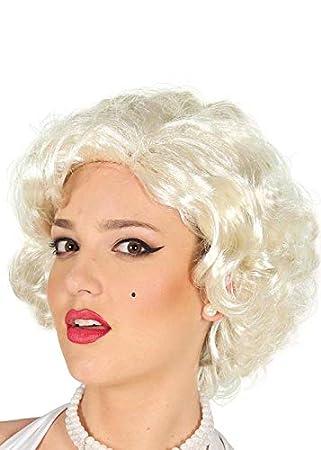 Peluca Estilo Mujer Rubia Blanca Marilyn Monroe