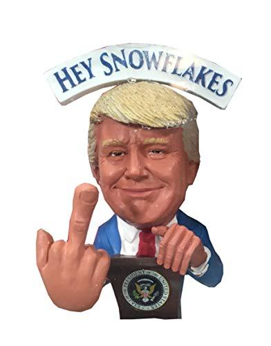 FU Legends Hey Snowflakes, I'm Your President Donald Trump Middle Finger Bobblehead Bobblefinger