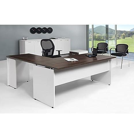 Scrivania Ufficio Angolare L180x80/P180x60/H72 Con Allungo Laterale ...