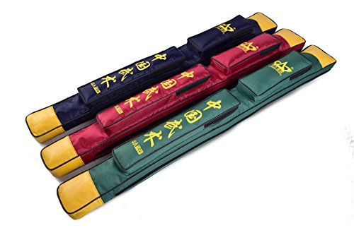Shanren Sports Sword Bags - Sword Carrying Case Dark Red, Blue and Green (dark red)