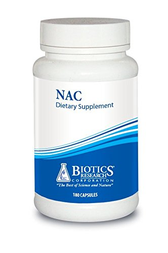 Biotics Research NAC – N-Acetyl-L-Cysteine, 500 mg, Glutathione Production, Detoxification Support, Muscle Recovery, Healthy Lungs. 180 Caps by BIOTICS
