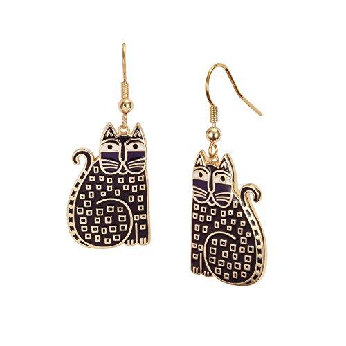 (Laurel Burch Indigo Cats Dangle Earrings)