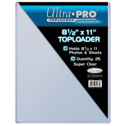 (Ultra Pro Clear Toploader 8-1/2-Inches x 11-Inches (25-Count) )