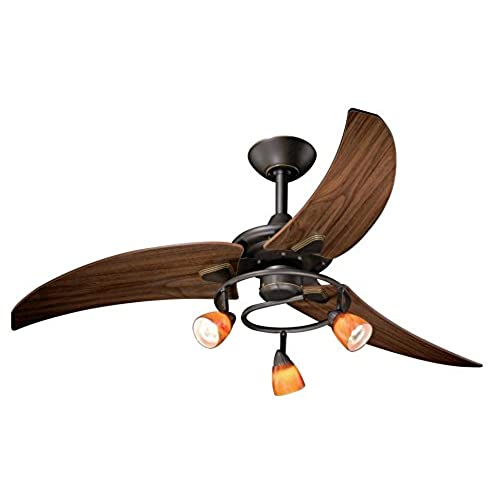 Vintage ceiling fan with light amazon vaxcel fn48121or picard ceiling fan 48 vintage bronze finish aloadofball Choice Image