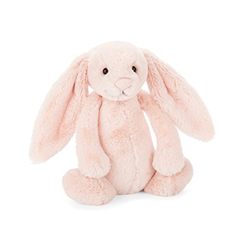 Jellycat Bashful Blush Bunny Chime Rattle Stuffed Animal, 10 inches