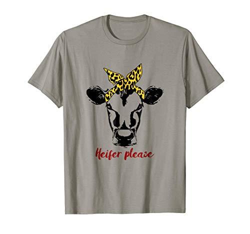 (Cute Bandana Heifer Please Fun T shirt for Women, Cow)