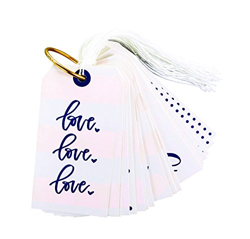 Striped Special Occasions 5 inch Cardstock Gift Tags 24 Piece Book Set