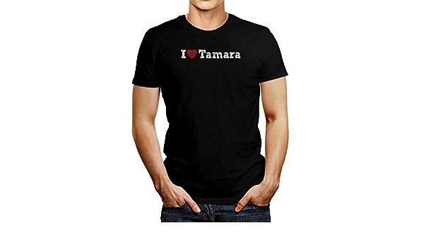 Idakoos I Love Tamara Sketch Style Camiseta - Negro - Medium ...