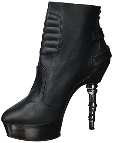 Vegan Bootie Leather Demonia Women's Mue900 Bvl Ankle Blk z7O8qp