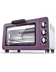 Sdesign Three-layer Multi-function Automatic Household Baking Mini Oven Cake Pizza Stainless Steel Heating Tube-15L Multi-function Household,toaster Oven (Color : Purple)