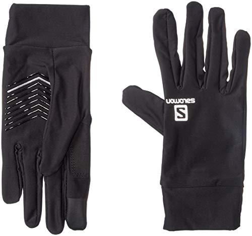 Salomon Unisex PuLong Sleevee Glove , Black/Black, Medium
