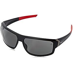 Tag Heuer Racer2 9223 901 Rectangular Sunglasses, Black & Red, 70 mm