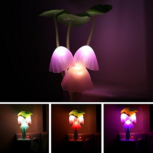Powstro Night Light, Sensor Led Mushroom Night Light Plug...