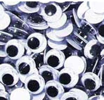 Constructive Playthings BAR-344 Wiggle Eyes 12 mm Black & White 150 Piece for Arts and Crafts by Constructive Playthings