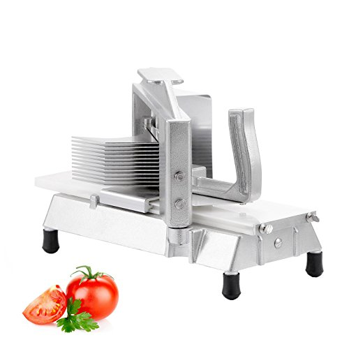 Forkwin Tomato Slicer Commercial 3/16 inch Tomato Cutter Slicer 2 dozen/min Tomato Cutter Machine with Built-in Cutting Board Tomato Cutter Industrial Manual (for restaurant) by Forkwin