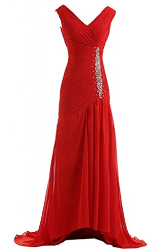 Victoria Prom Trailing Evening Dresses Chiffon Bridal Reception Gowns at Amazon Womens Clothing store: