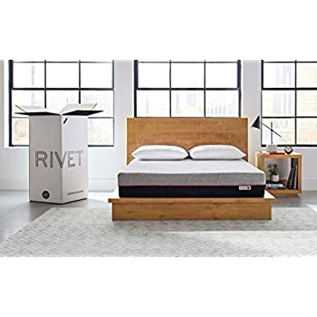 Rivet Queen Mattress - Celliant Cover, Responsive 3-layer Memory Foam for Support and Better Overnight Recovery, CertiPUR Certified, 100% USA-made, Bed in a Box, 100-Night Trial