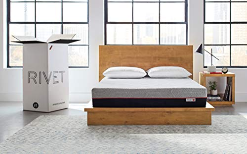 Rivet Queen Mattress – Energy Boosting Celliant Cover, Responsive 3-layer Memory Foam for Support and Better Overnight Recovery, Bed in a Box, 100-Night Trial