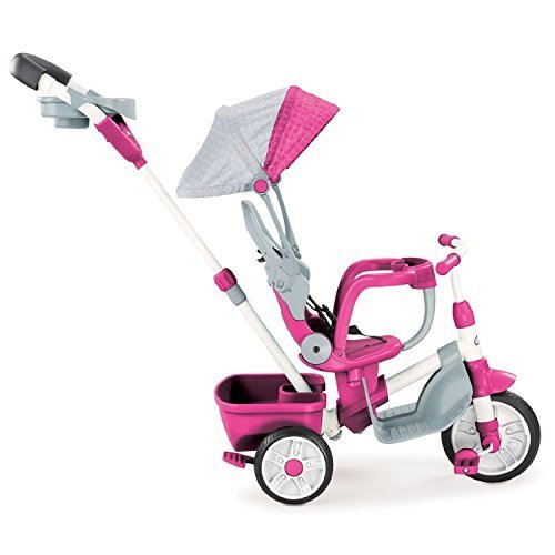 4 in 1 Baby Tricycle (Pink) - 6